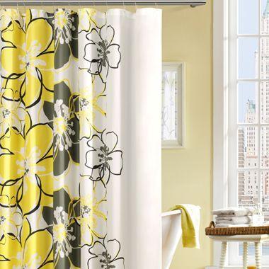 allison shower curtain bed bath & beyond   yellow bathroom