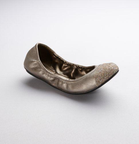 Sparkle Toe Leather Ballet Flat by Ann Taylor Loft.... WANT!