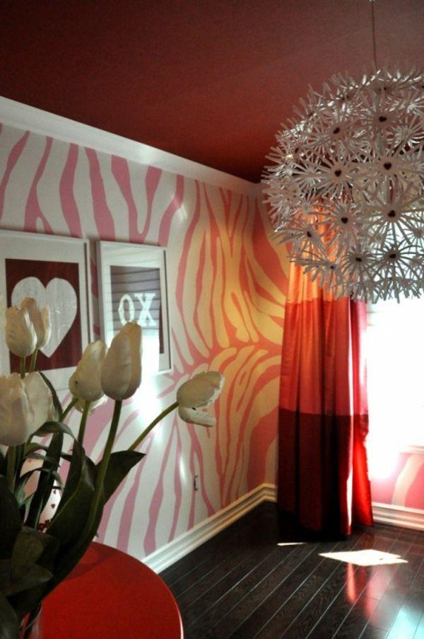 wand mti rosiger farbe streichen - luxus zimmer mit einem schönen - wohnung streichen ideen