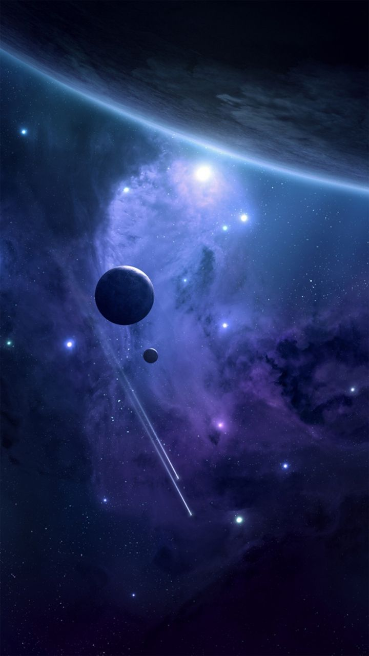Outer space Planets - iPhone wallpapers @mobile9 | #sci-fi #fantasy #galaxy #universe | iPhone 8 ...