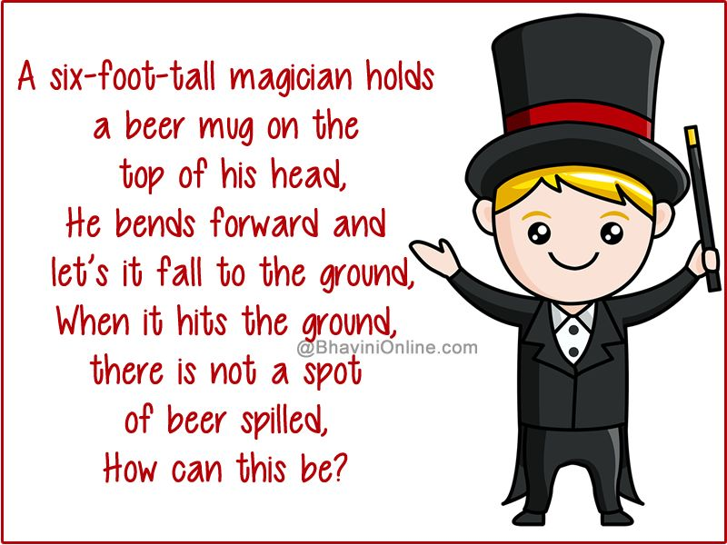 Fun Riddle How Did The Beer Not Spill Bhavinionline Com Fun Riddles Riddles Funny Riddles With Answers