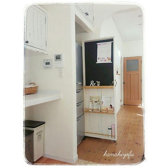 キッチン Diy Igも Hanahiyofu 再投稿です すきま収納型