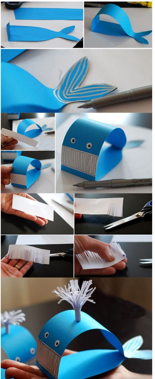 DIY Easy Blue Whale