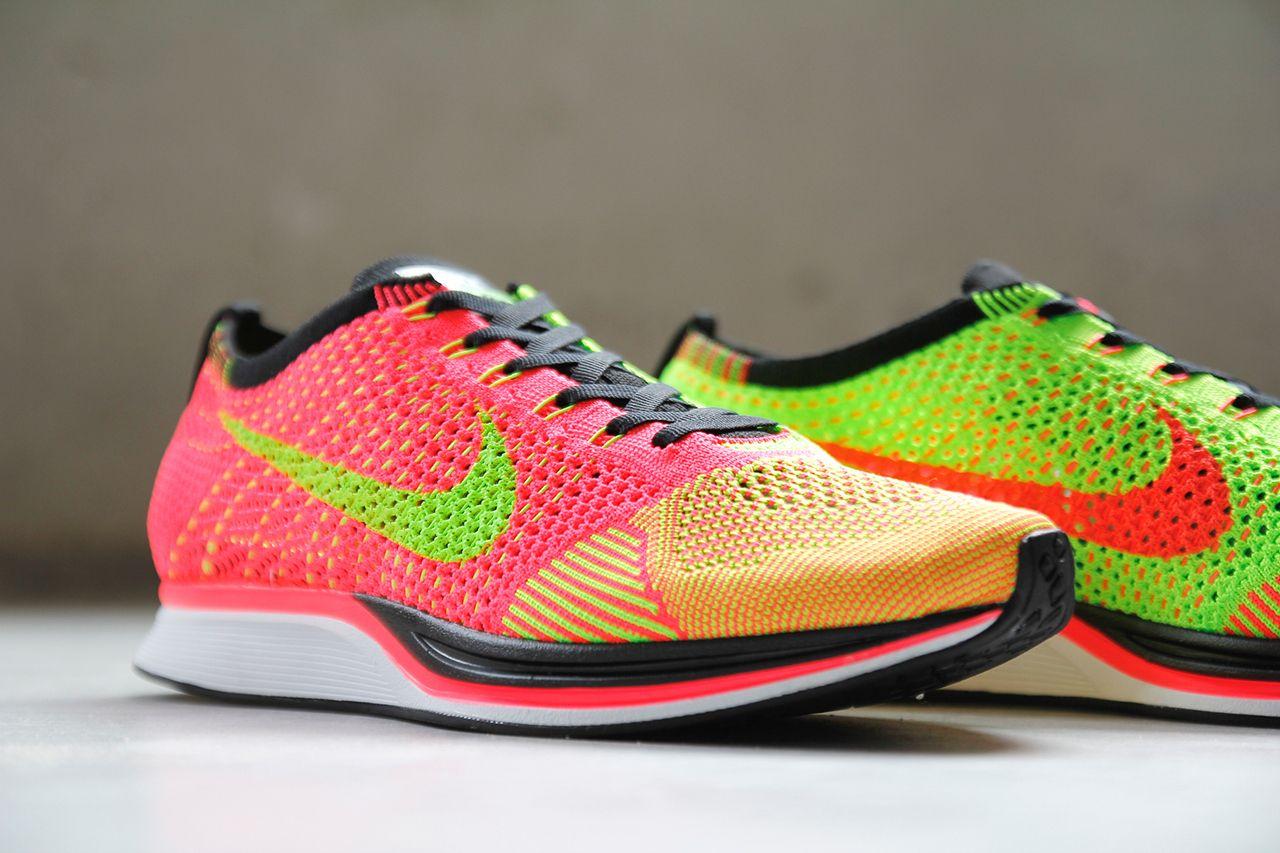 online retailer d6bdd 9ecef Image of Nike Flyknit Racer Hyper PunchVolt