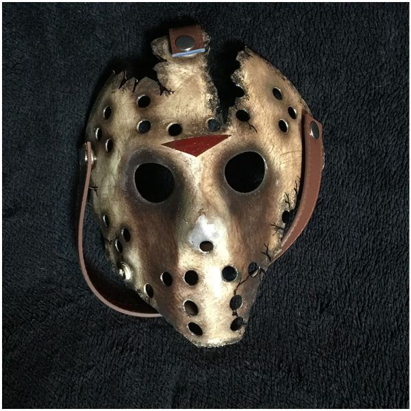TX Halloween Jason Mask Friday The 13th Cosplay Horror Hockey Costume 09