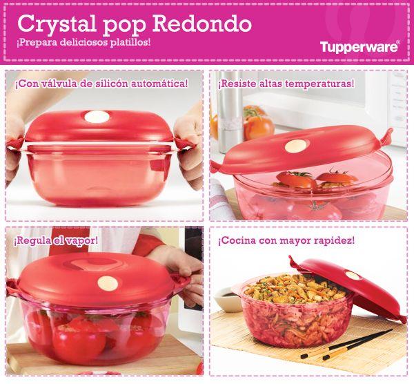 Quieres Cocinar Con Rapidez El Crystal Pop Redondo De Tupperware