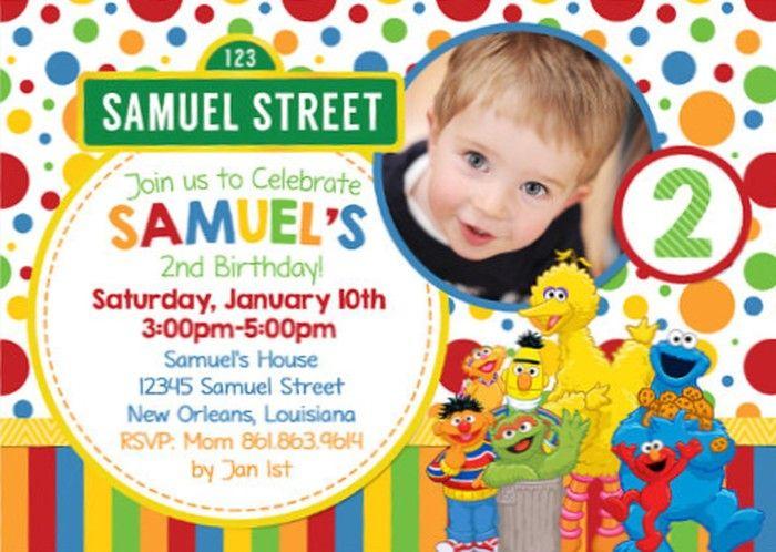Personalized Sesame Street Birthday Invitation Sample
