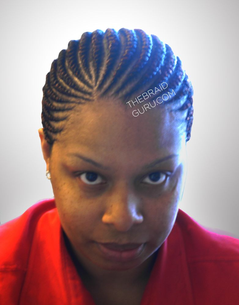 Medium Feed In Cornrows 1 Layer Front View Braids By