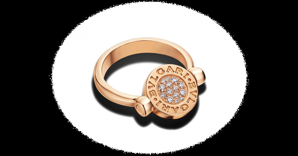 ring bvlgari flip ring in 18kt pink gold