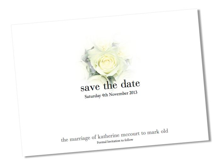 White, Rose, Save the Date, Type, Letter, Booklet, Invitation - Formal Invitation Letters