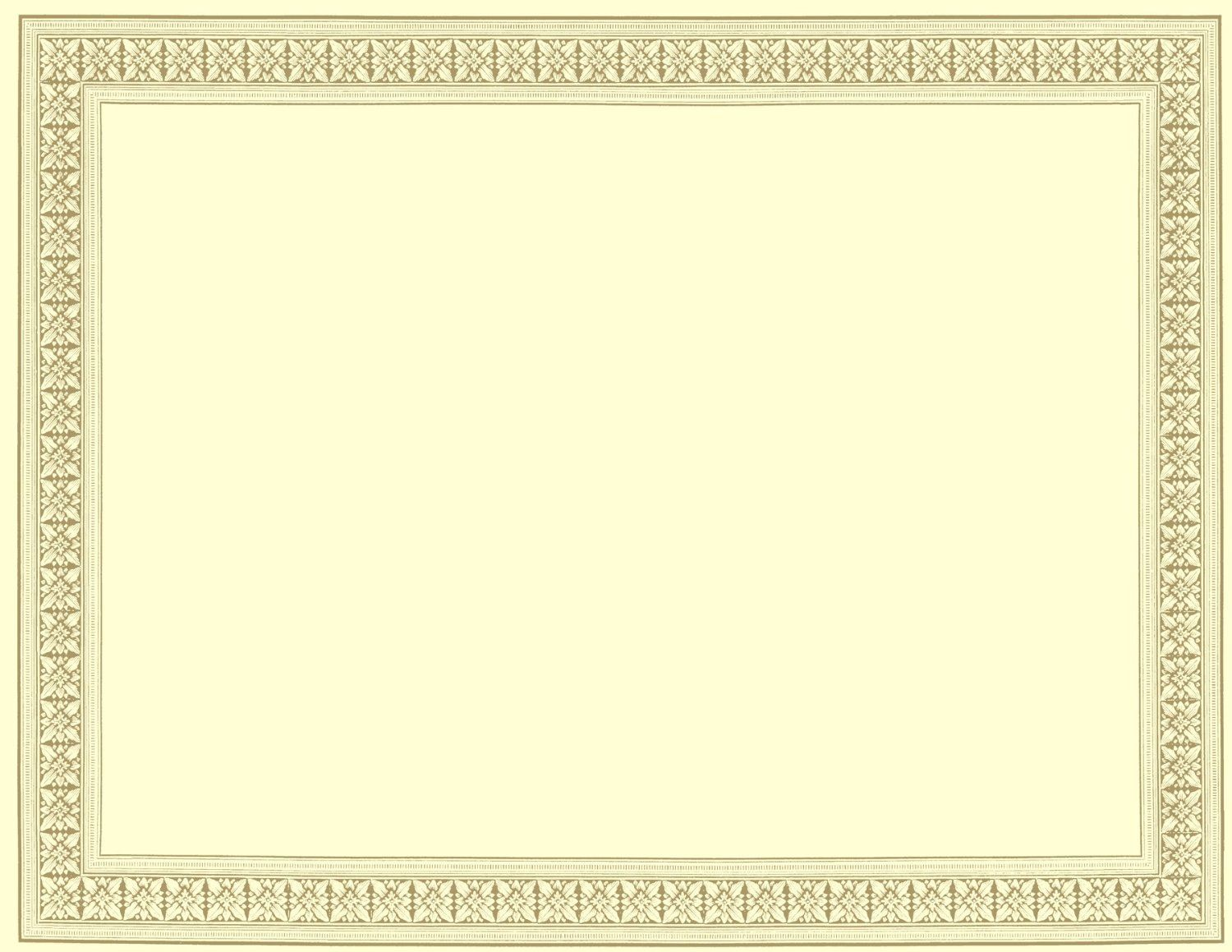free blank certificates with borders