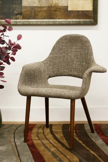 forza taupe twill mid century style accent chair set of 2 by