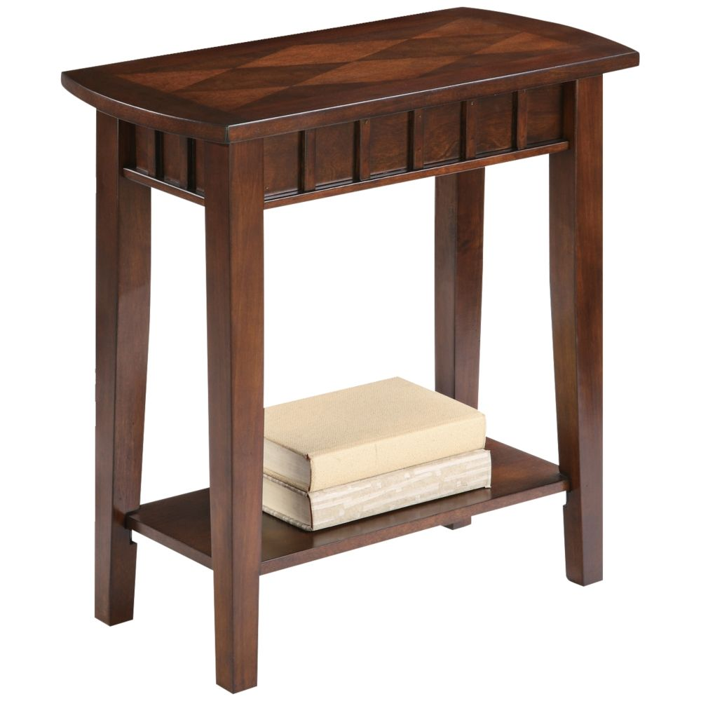 Nolie Traditional Light Espresso Side Table   Style # 6H443