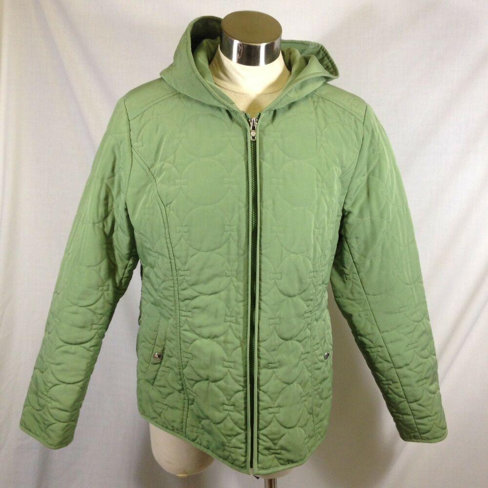 Esprit Quilted Full Zip Jacket Coat Hood Lined Pockets Fall Winter Large Green Esprit Lightjacket Fallfashion Wint Zip Jackets Jackets Winter Coats Jackets [ 1000 x 1000 Pixel ]