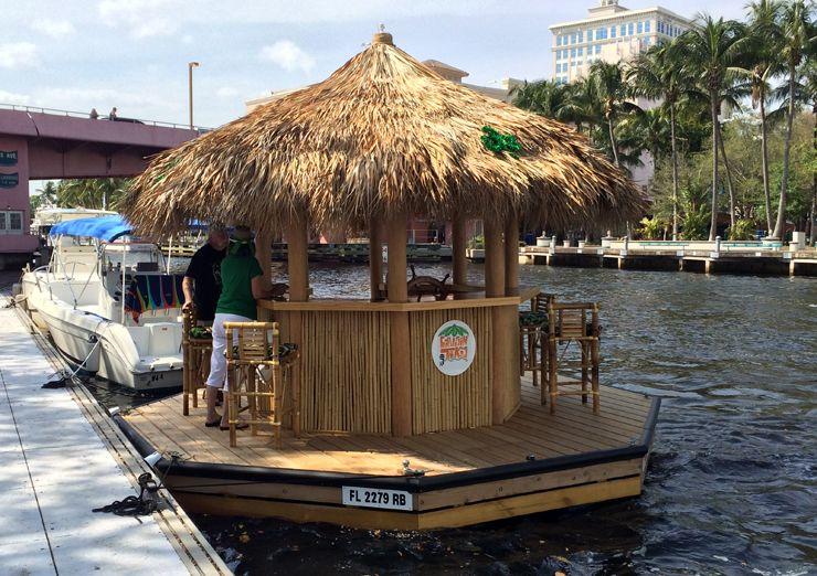 Floating Tiki Bar From Cruisin Tikis Tiki Bars And Bar