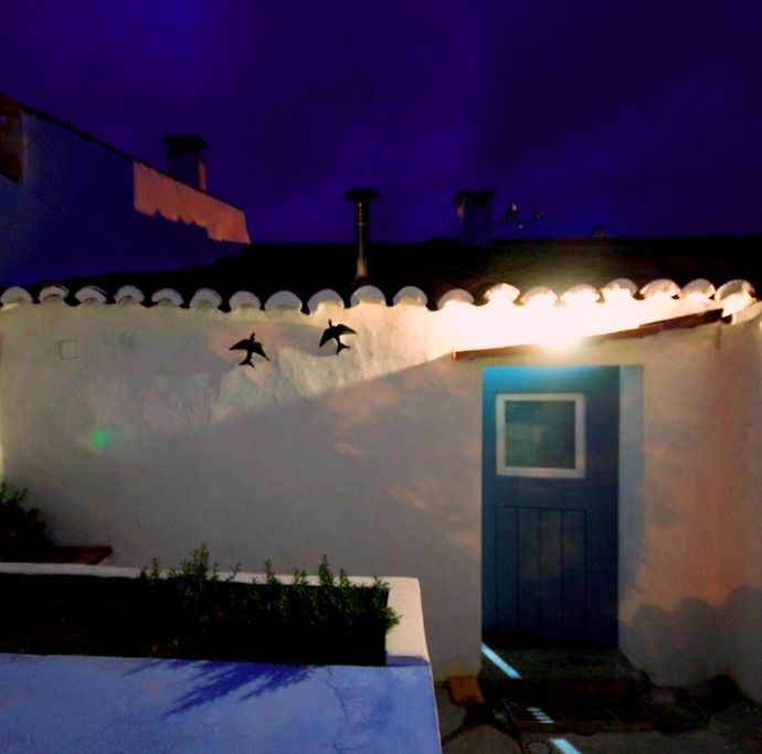 Albernôa - Beja - Portugal. Quintal da casinha típica para férias.