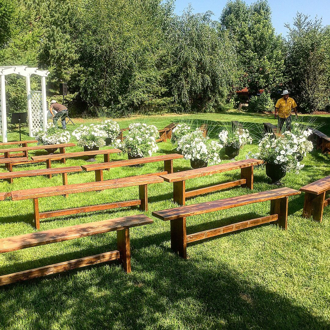 Amazing Rustic Wedding Benches Rental Outdoor Barn Backyard In 2019 Pdpeps Interior Chair Design Pdpepsorg