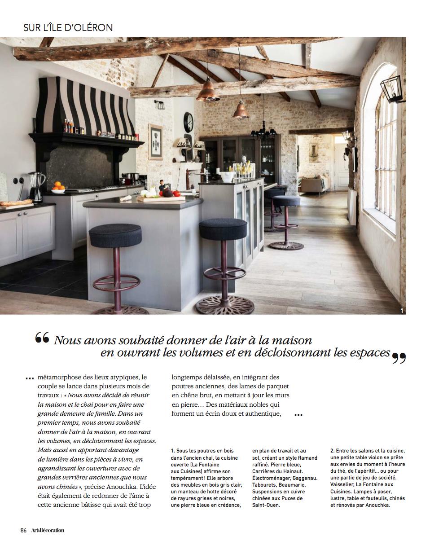 Cuisine De Style Revisite Maison De Famille Pour Les Vacances Ile D Oleron Laurent Et Anouchka Colin Archite Architecte Interieur Maison Maison De Vacances