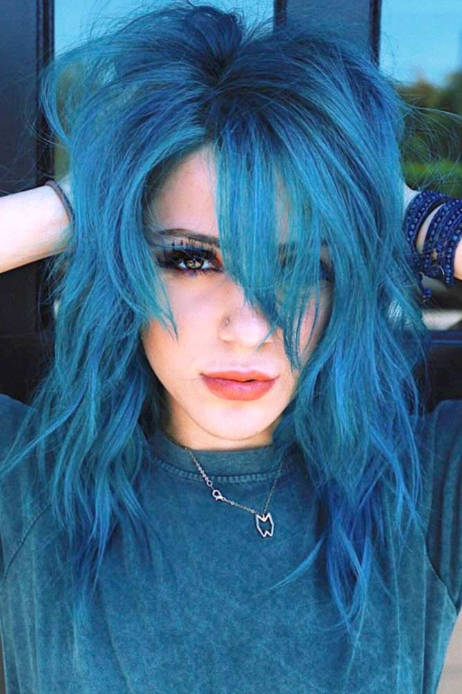 38 Ethereal Looks With Blue Hair Hairstyles And Faces Hair Color