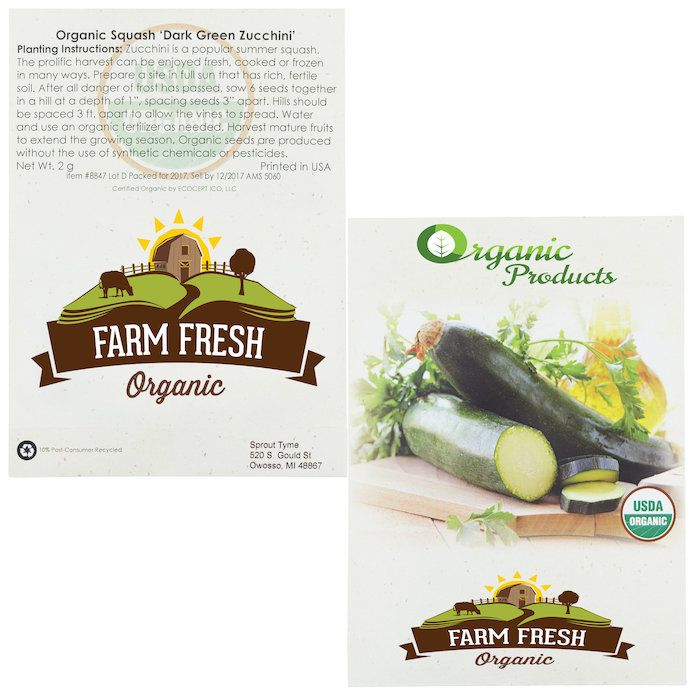 Squash any objections with this custom imprinted seed packets!