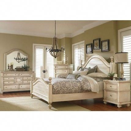 Chateau Antique French Bisque Poster Bedroom Set #furnituresets