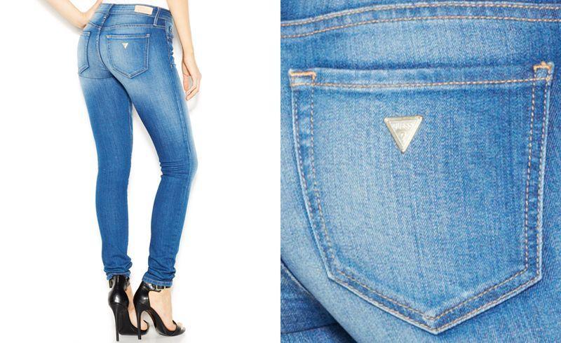 Guess power curvy midrise chula vista wash skinny jeans