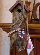 For Wrent Small Decorative Wooden (Sits on shelf) Birdhouse