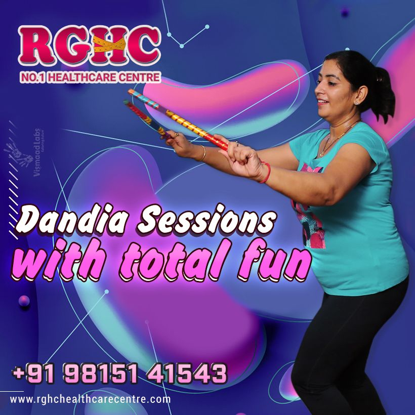Dandia Sessions with Fun at RGHC! The regular workout and physical activities make you healthy and a...
