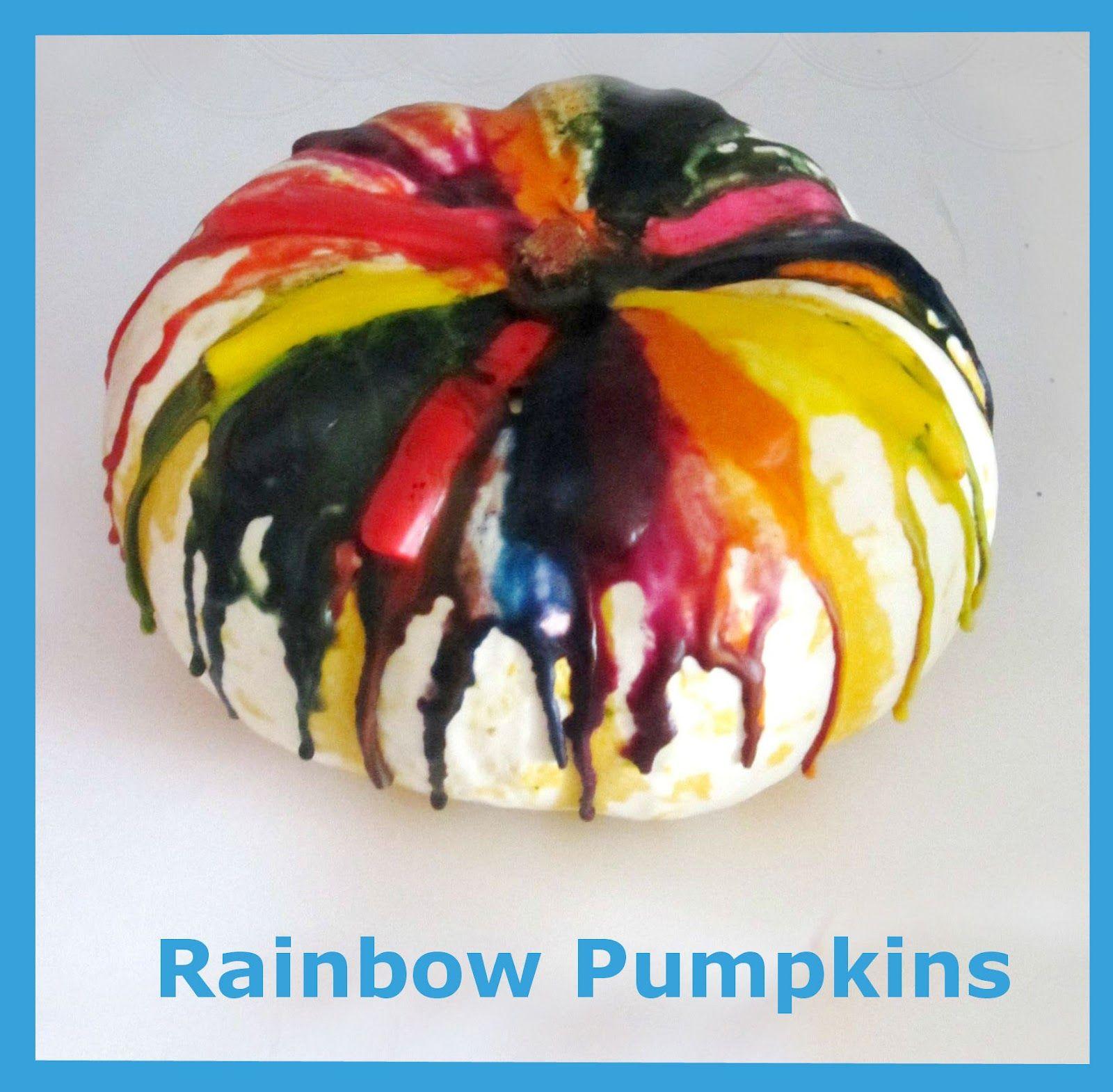 Rainbow Pumpkin Tutorial