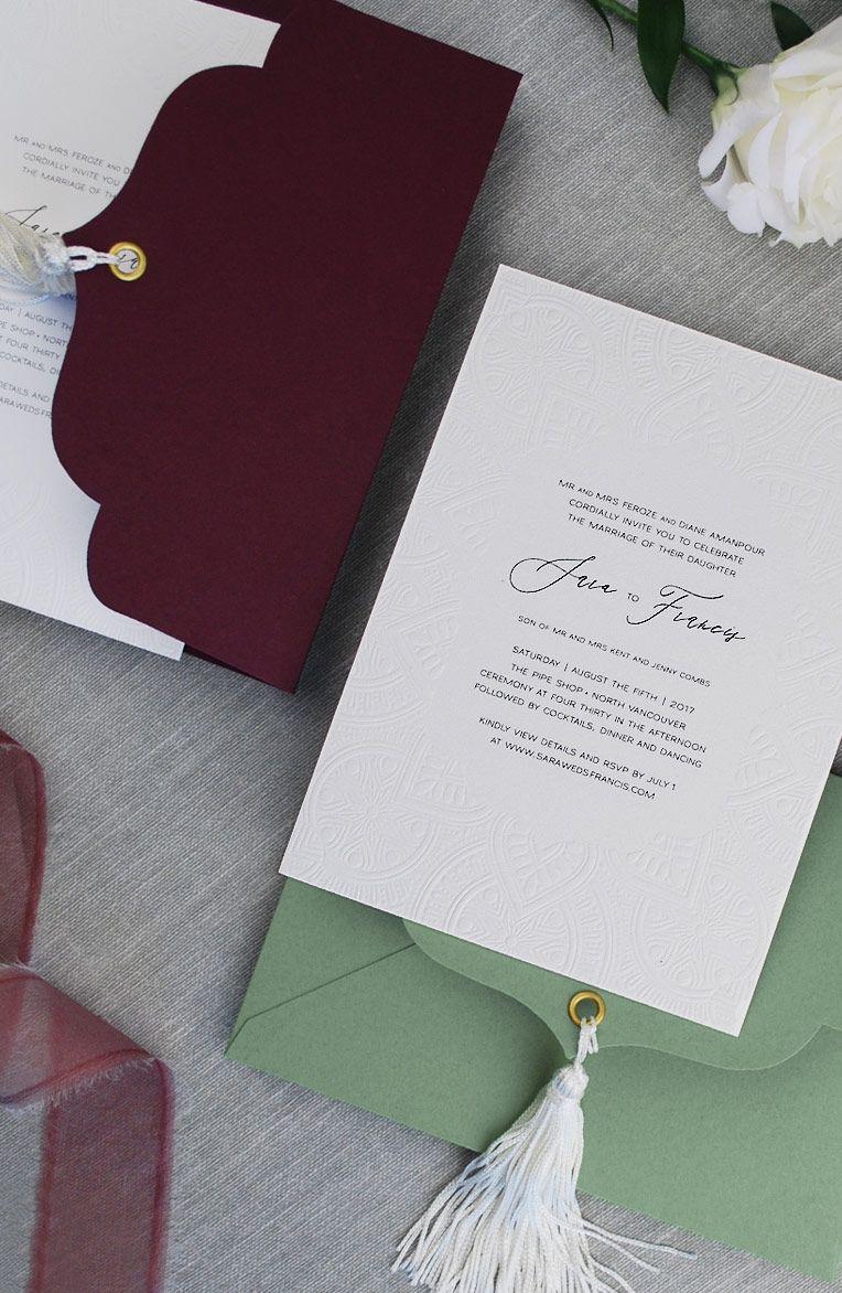 Cornwall Stationery • Custom Wedding Invitations • Vancouver, BC ...