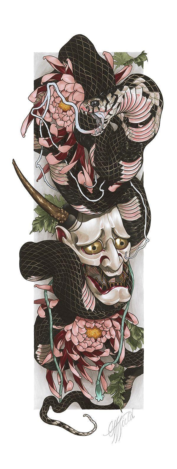 CWF  Hannya Snake Limited Edition (prints) #prints #edition #hannya #limited #snake