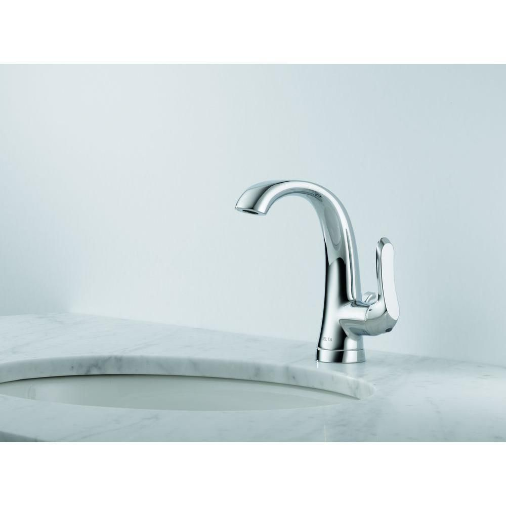 Delta Soline 4 in. Centerset Single-Handle Bathroom Faucet in Chrome ...