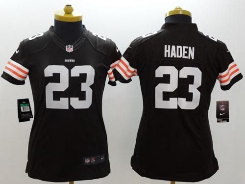 Nice Nike Browns #23 Joe Haden Brown Team Color Women's Stitched NFL
