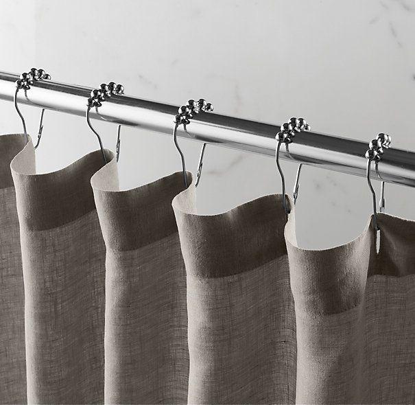 Stonewashed Belgian Linen Shower Curtain | Cotton & Linen Shower ...