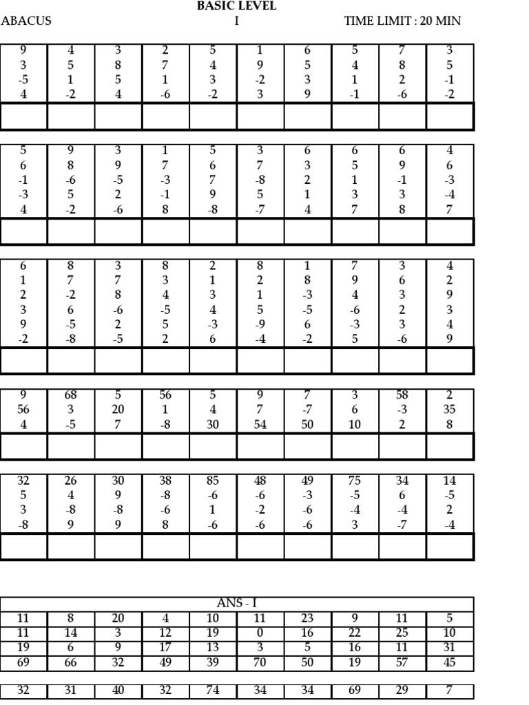 Worksheets Abacus Worksheets model paper que adoro pinterest math worksheets and paper