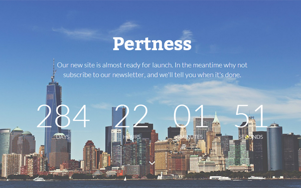 DOWNLOAD - Pertness - Coming Soon Template