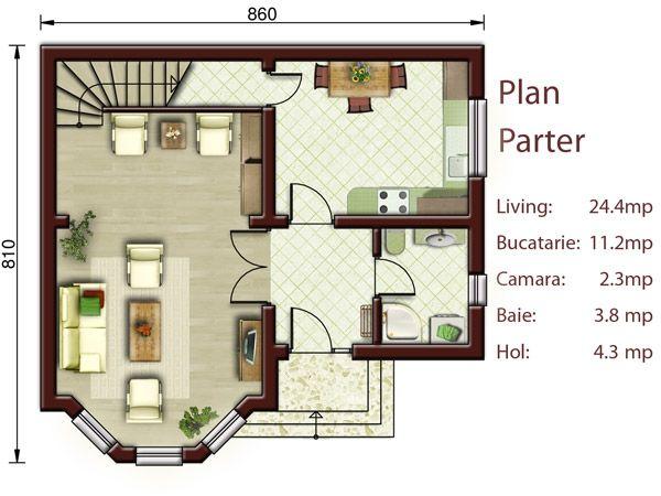 Proiecte De Case Mici Cu Doua Dormitoare Two Bedroom Small House