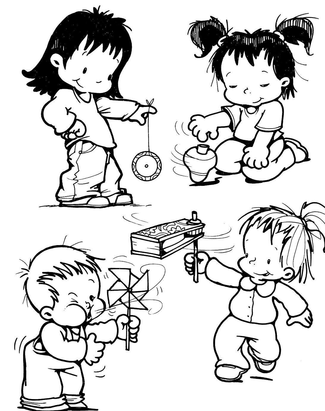 Figuras De Criancas Brincando Para Colorir Desenhos De Criancas
