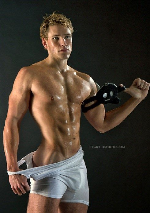 Sexy guy working out
