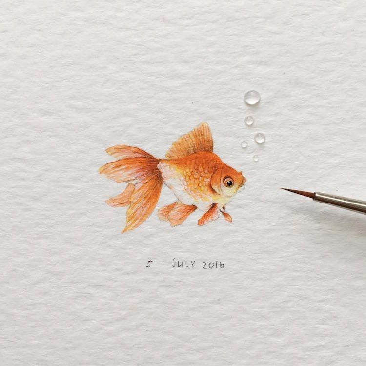 En Russie, Irene Malakhova est une artiste talentueuse qui réalise de superbes illustrations d'animaux qui ont la particularité d'être minuscules.