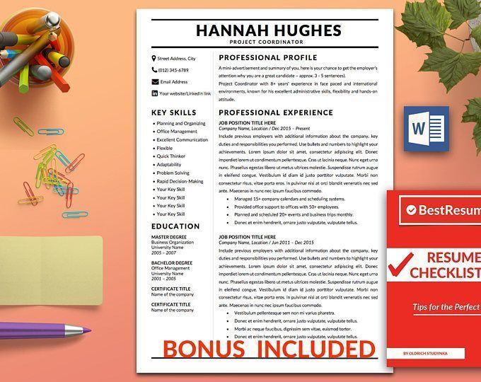Office 2007 Resume Template Modern Resume Template Resume Template Word Clean Resume Template .