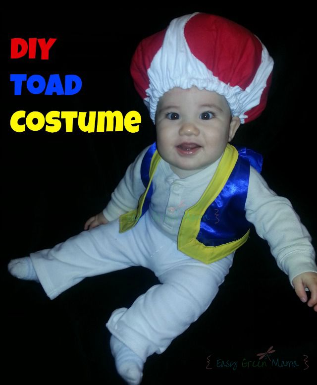Diy toad costume hat baby or kid pinterest mom website toad diy toad costume hat for baby infant or toddler from easy green mom solutioingenieria Choice Image