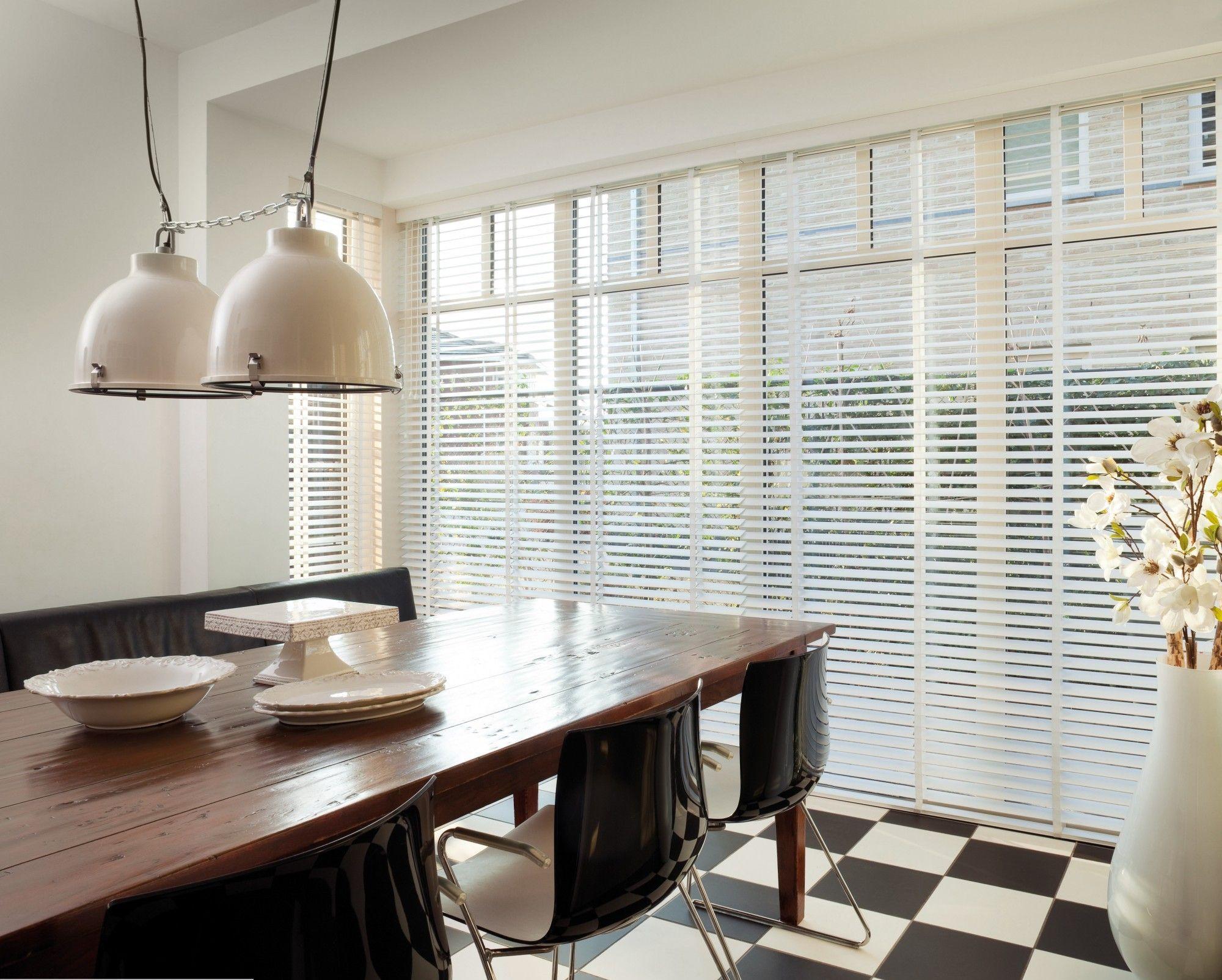 De gordijnspecialist jaloezie hout wit keuken huis home decor