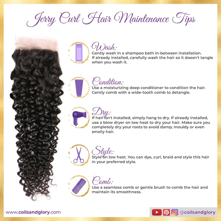 Brazilian Jerry Curl Bundles With Closure Make your own