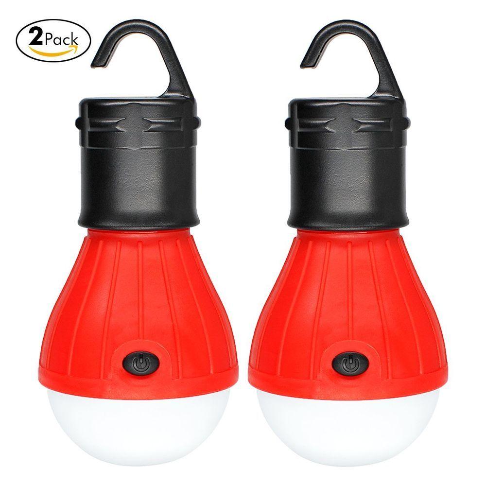 2 Pack LED Lantern Emergency Light Battery Powered Lamp