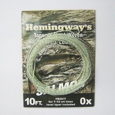 Sale Aventik Hemingway Tapered Hand Woven furled leader -Salmon and Switch 10ft 0X #Aventik #Hemingway #Tapered #Hand #Woven #furled #leader #-Salmon #Switch #10ft