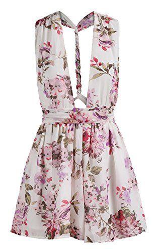 Sheinside® Women's V Cut Backless Florals Jumpsuit (XL, Multi) Sheinside http://www.amazon.com/dp/B00YOE4PMW/ref=cm_sw_r_pi_dp_XfxIvb085TCDS