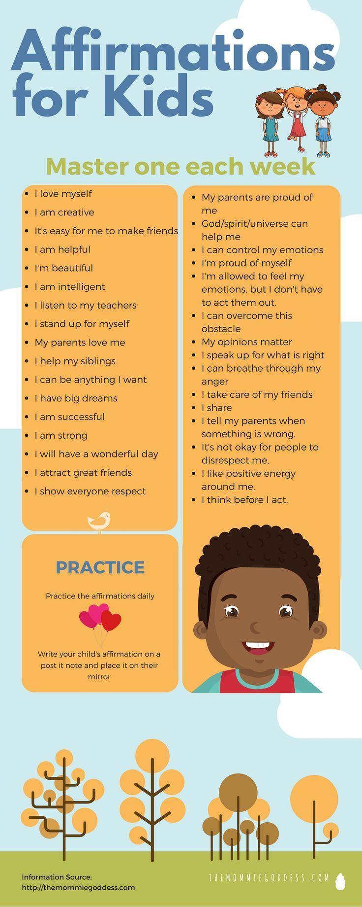 Affirmations for Kids Babies Parenting Children Affirmations