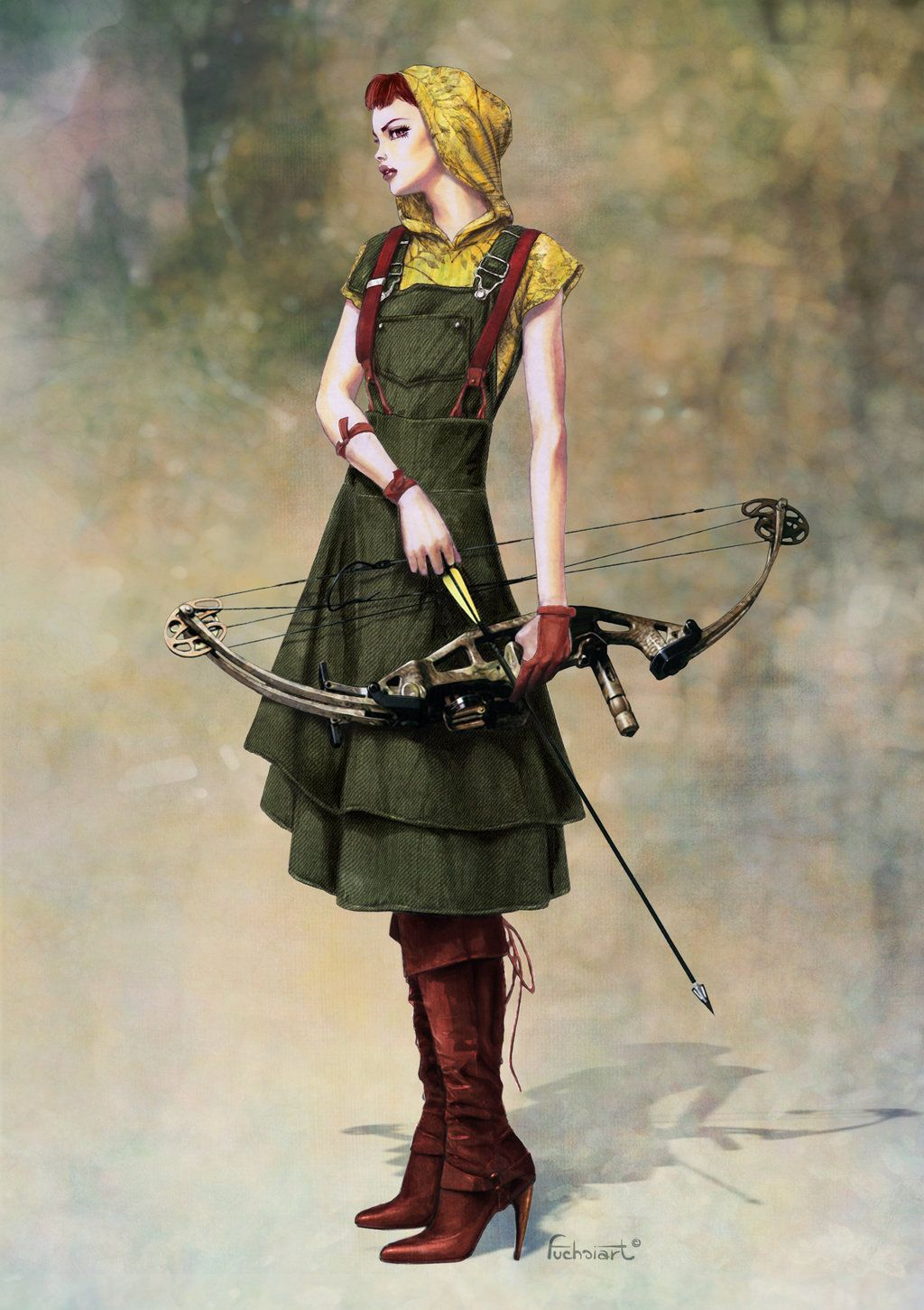 steampunk heroines fashion and action fashion huntress