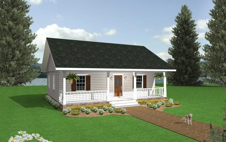 House Plan 1776 00001 Cottage Plan 864 Square Feet 2 Bedrooms 1 Bathroom Cottage Style House Plans Country Style House Plans Cottage House Plans